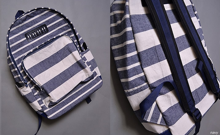 white mountaineering / cotton linen border daypack
